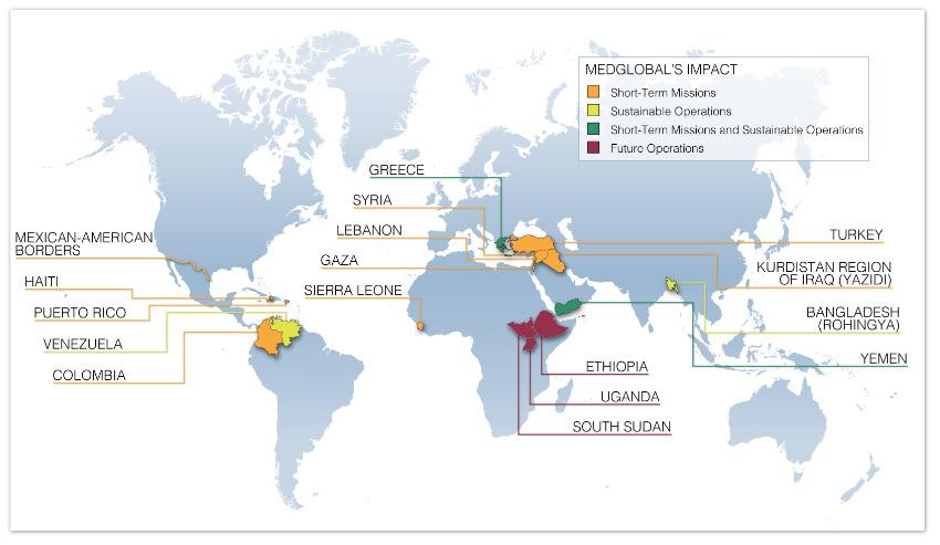 MedGlobal Impact Map