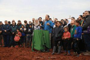 press conference in Idlib Syria 2020