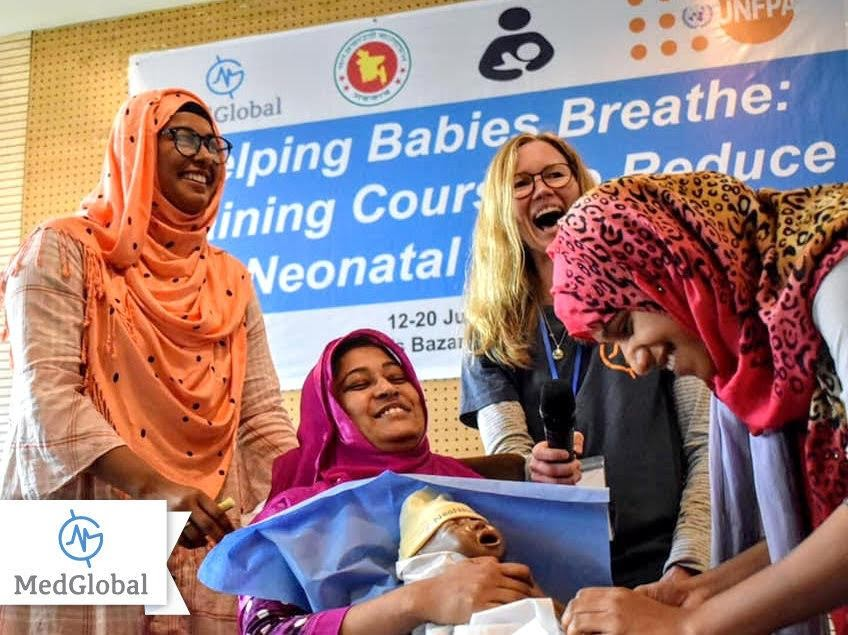 MedGlobal Master Trainer and Helping Babies Breathe participants.