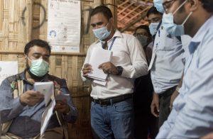 Clinic staff in Coxs Bazar, Bangladesh
